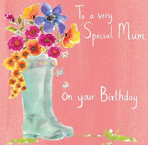 buy mum birthday card online at karenza paperie pretty flowers mum cards half price sale 50% off 1/2 price rachel ellen designs cards stationery