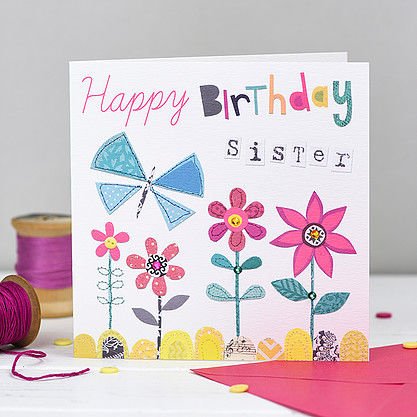 buy special sister birthday cards online at karenza paperie half price 1/2 price 50% off sale rachel ellen designs relation birthday cards for sisters little sister from brother sibling sister