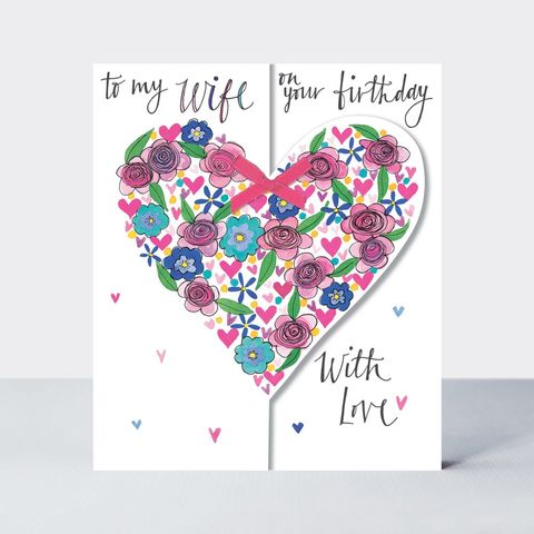 Floral,Heart,Wife,On,Your,Birthday,Card,buy wife birthday card online with heart, buy pretty flowers hearts birthday cards for wives oline, buy special to my wife birthday card online from husband wife with hearts, buy beautiful wife birthday cards online, buy flowers and hearts wife birthday c