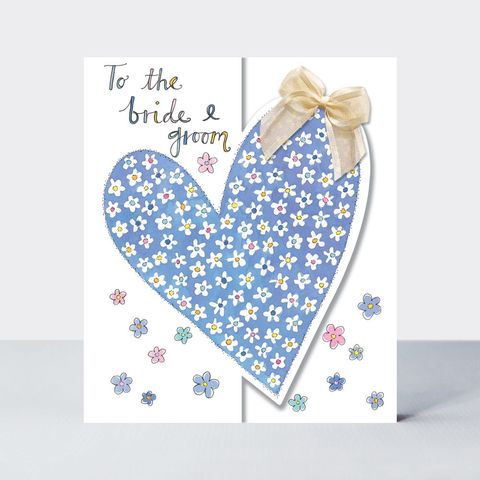 Floral,Heart,To,The,Bride,And,Groom,Wedding,Card,Buy something blue wedding day card online, buy happy wedding day card online with hearts, buy pretty heart bride and groom cards for special couple friends relations wife husband mum and dad parents grandparents, hearts wedding anniversary cards, buy we