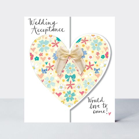 Floral,Heart,Wedding,Acceptance,Card,Buy acceptance card online, buy would love to come wedding acceptance cards online, Buy wedding acceptance card online, buy wedding invitation acceptance card online with hearts, buy pretty heart bride and groom cards for special couple friends relations