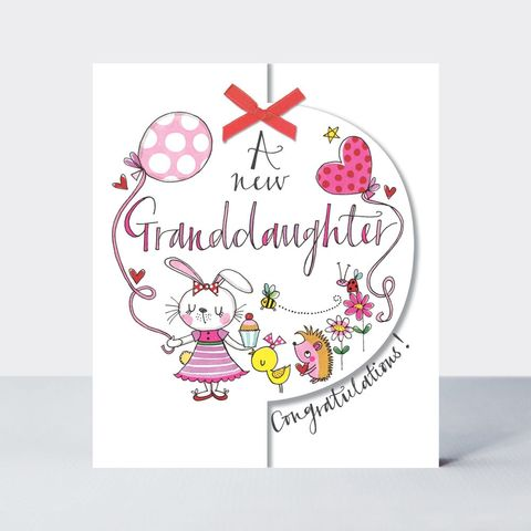 Congratulations,A,New,Granddaughter,Baby,Card,buy new granddaughter congratulations card online, buy new grandparents grandparent grandma grandad congrats card online, buy pretty new baby boy grandson cards, grandparents congrats cards,buy we