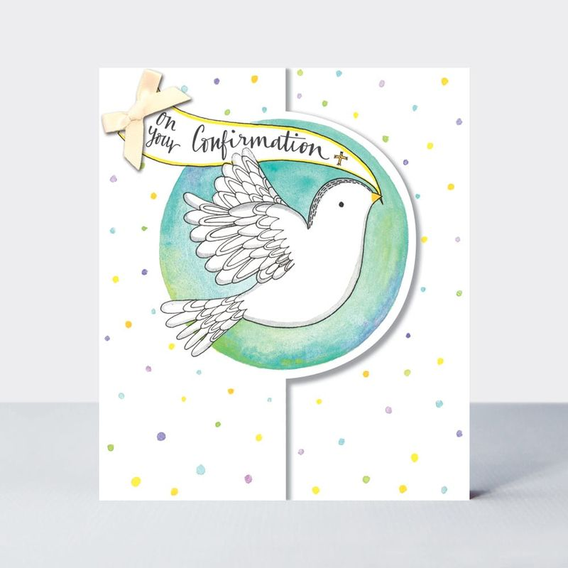 White Dove On Your Confirmation Card - product images