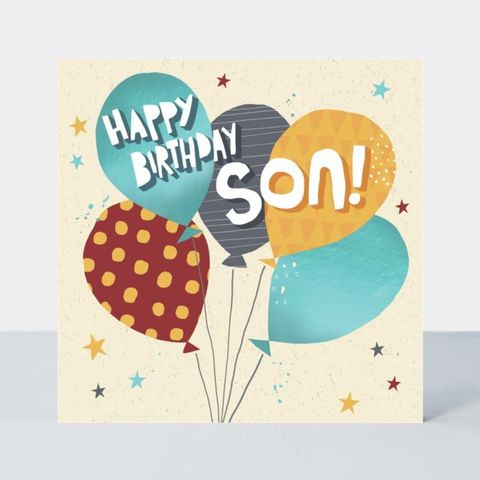 Balloons,Happy,Birthday,Son,Card,buy happy birthday cards for sons online with birthday balloons, buy balloon happy birthday son cards online, buy son birthday cards online from parents parent mum and dad mum dad, balloon cards for sons