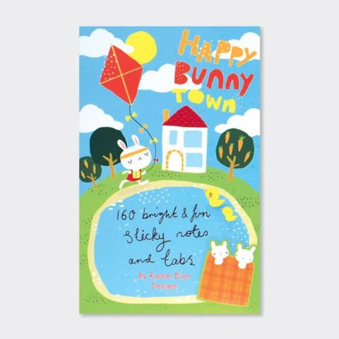 Rachel,Ellen,Book,Of,Sticky,Notes,-,Happy,Bunny,Town,Design,buy stationery for her online, buy animal sticky notes online, buy book of sticky notes online, buy pretty desk and office sticky notes online, buy stationery gifts online