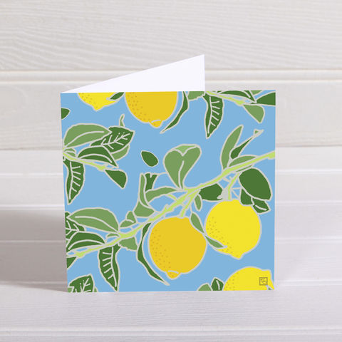 Lemons,Greetings,Card,-,Emily,Burningham,Blank,buy emily burningham cards online, buy lemon grove card online, buy lemon greetings cards online, buy nature blank greetings cards online, buy floral blank cards online, buy summer fruits card online, buy beautiful cards with flowers and plants online