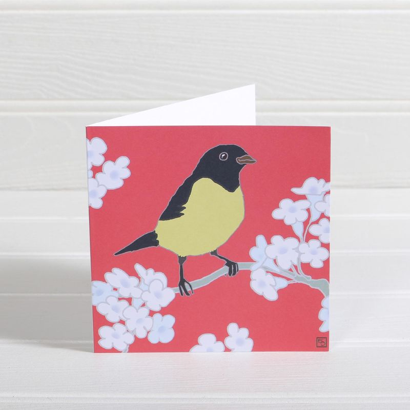 Bird & Jasmine Greetings Card - Emily Burningham Blank Card - product images