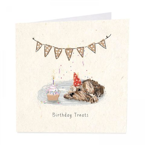Dog,&,Cupcake,Happy,Birthday,Card,buy dog birthday card online, buy birthday card with dogs terrier Yorkie online, buy dog birthday cards for special mum online, buy dog and flowers birthday cards for parents parent mum online, buy special mum birthday card online
