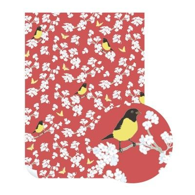 Emily,Burningham,Bird,In,Jasmine,Gift,Wrap,-,Pack,of,5,Sheets,buy emily burningham gift wrap online., buy floral wrapping paper for her online, buy pretty botantical gift wrap online, buy pack of gift wrap online, buy luxury wrap online