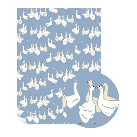Emily,Burningham,Geese,Gift,Wrap,-,Pack,of,5,Sheets,buy emily burningham gift wrap online., buy floral wrapping paper for her online, buy pretty botantical gift wrap online, buy pack of gift wrap online, buy luxury wrap online