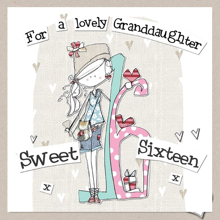 buy special granddaughter 16th birthday card online at karenza paperie age sixteen granddaughter card birthday