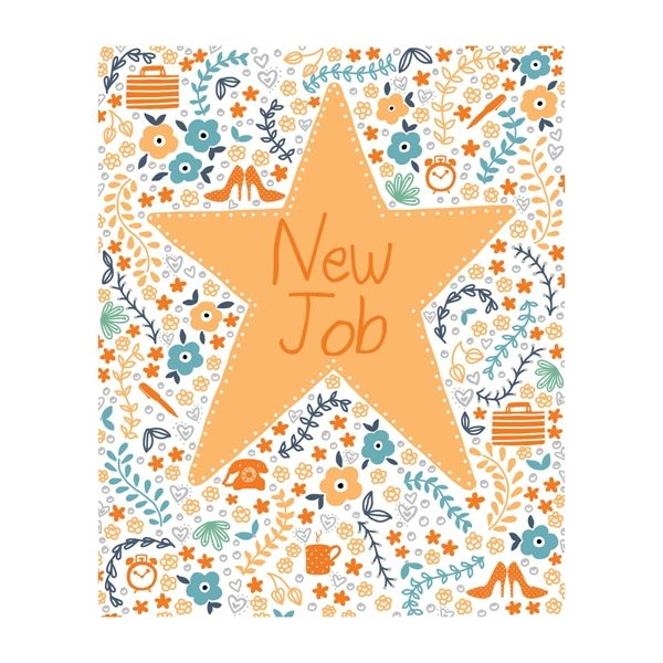 Gold Star New Job Card  - product images