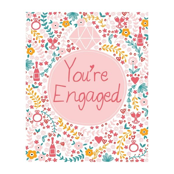 Diamond Ring You're Engaged Card  - product images