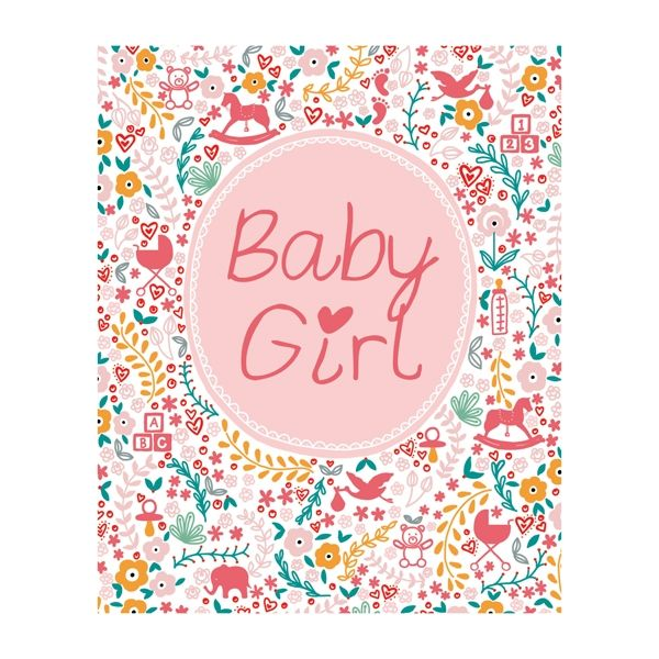 Pink Baby Girl Card  - product images
