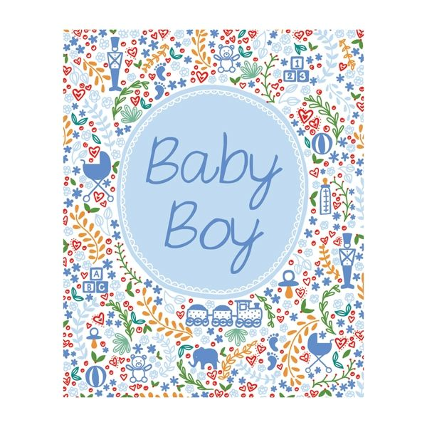 Blue Baby Boy Card  - product images
