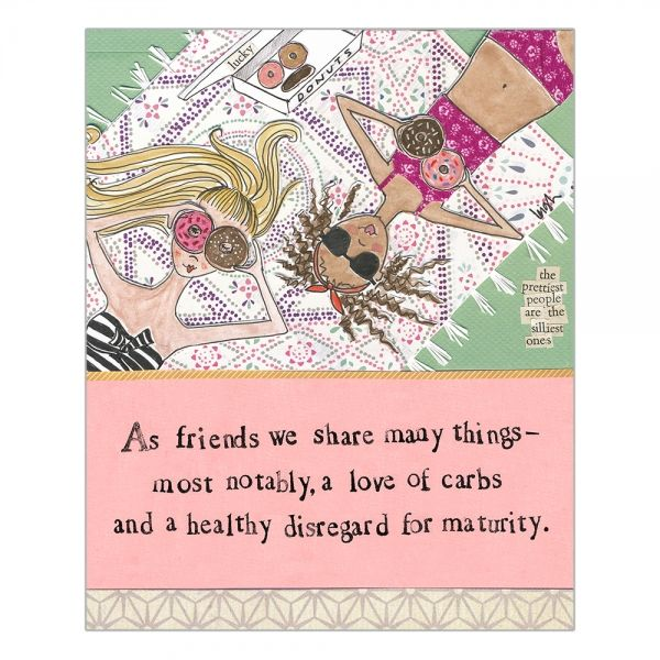 A Love Of Carbs Friends Card - Curly Girl Design Card - product images