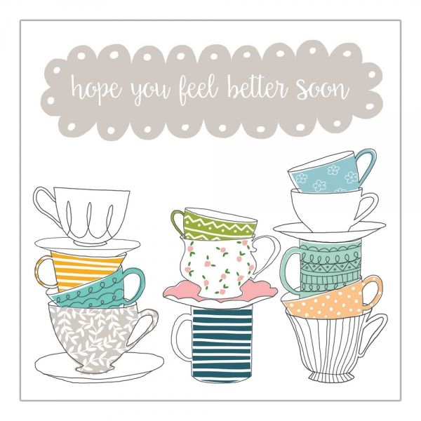 Teacups Feel Better Soon Card  - product images