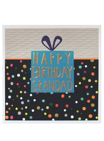 Birthday,Present,Grandad,Happy,Card,buy grandad birthday cards online, buy birthday cards for grandads with present dots spots, large Grandad  cards, buy Grandad birthday cards online from grandchildren grandchild grandson granddaughter