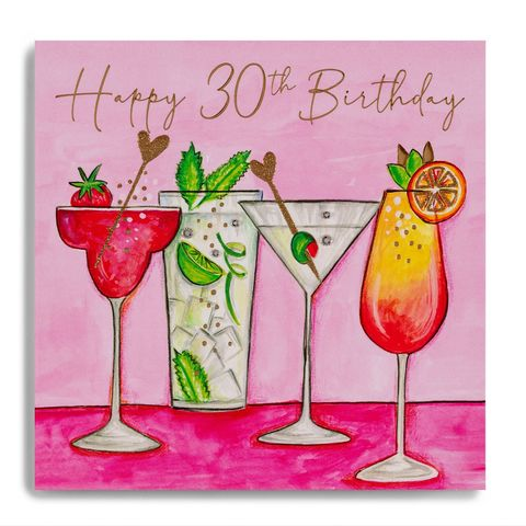 Hand,Finished,Birthday,Cocktails,30th,Card,buy 30th birthday card for her online, buy cocktails birthday drinks age thirty birthday cards online, buy party thirtieth birthday cards online, buy luxury 30th cards online,buy age thirty 30 birthday cards online, buy best friend cards onli