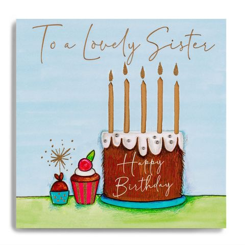 Hand,Finished,Birthday,Cake,Sister,Card,buy sister birthday card online, buy chocolate birthday cake sister birthday cards online, buy birthday cake sixtieth birthday cards online, buy luxury sister cards online, buy special sister birthday card from siblings brother sis,