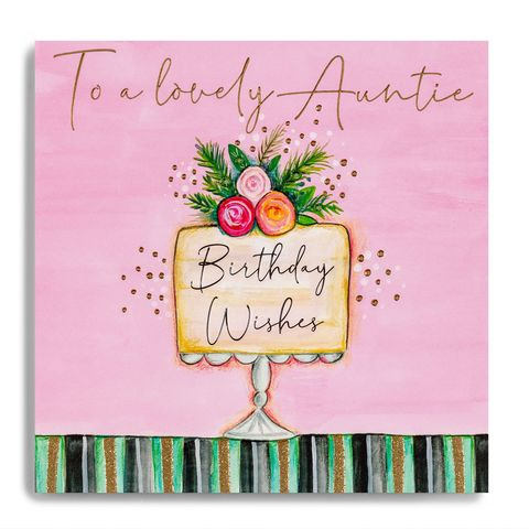 Hand,Finished,Birthday,Cake,Auntie,Card,buy auntie birthday card online, buy birthday cake auntie birthday cards online, buyspecisl aunty aunt auntie birthday cards online from nephew niece,  buy luxury auntiecards online, buy special auntie birthday card from siblings brother sis,