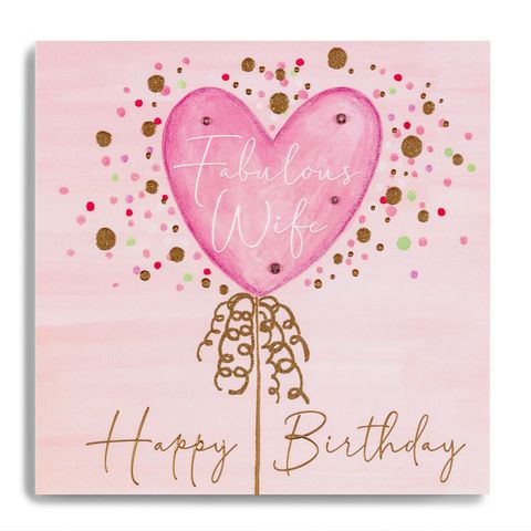 Hand,Finished,Pink,Balloon,Wife,Birthday,Card,buy wife birthday card online, buy wife birthday cards online with pink balloons balloon, pretty fabulous wife birthday cards from wife husband, buy mum birthday cards online from daughter son child children, buy luxury wife birthday card online, buy spec