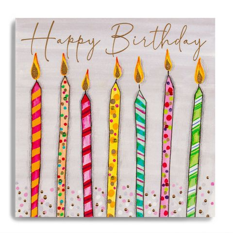 Hand,Finished,Birthday,Candles,Card,buy birthday candles birthday card online, buy candles birthday cards for him her unisex online, buy unisex birthday card online with candles,  buy luxury birthday cards online, buy special birthday card for her online