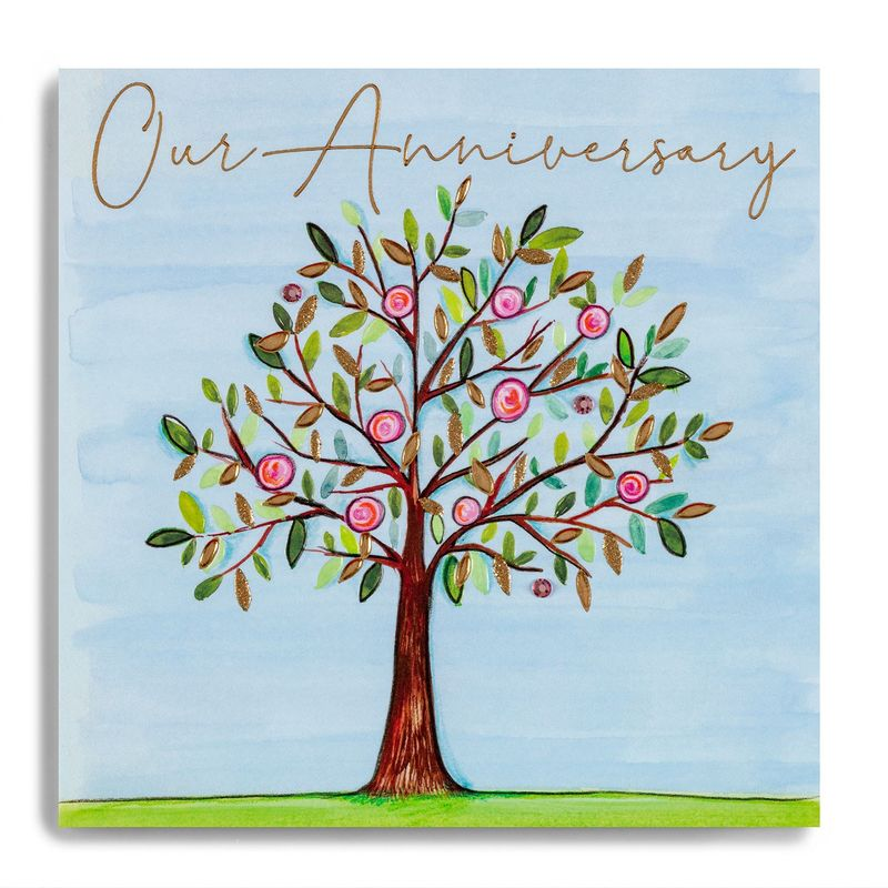 Hand Finished Tree Our Anniversary Card - product images
