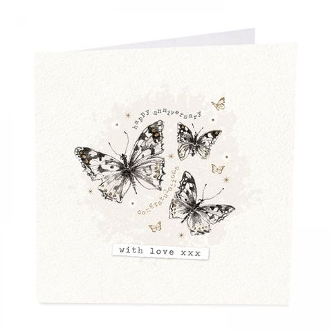 Butterflies,With,Love,Happy,Anniversary,Card,buy anniverary cards online with butterflies, buy pretty butterfly wedding anniversary card online, buy special friends couple relations happy anniversary cards with butterflies,