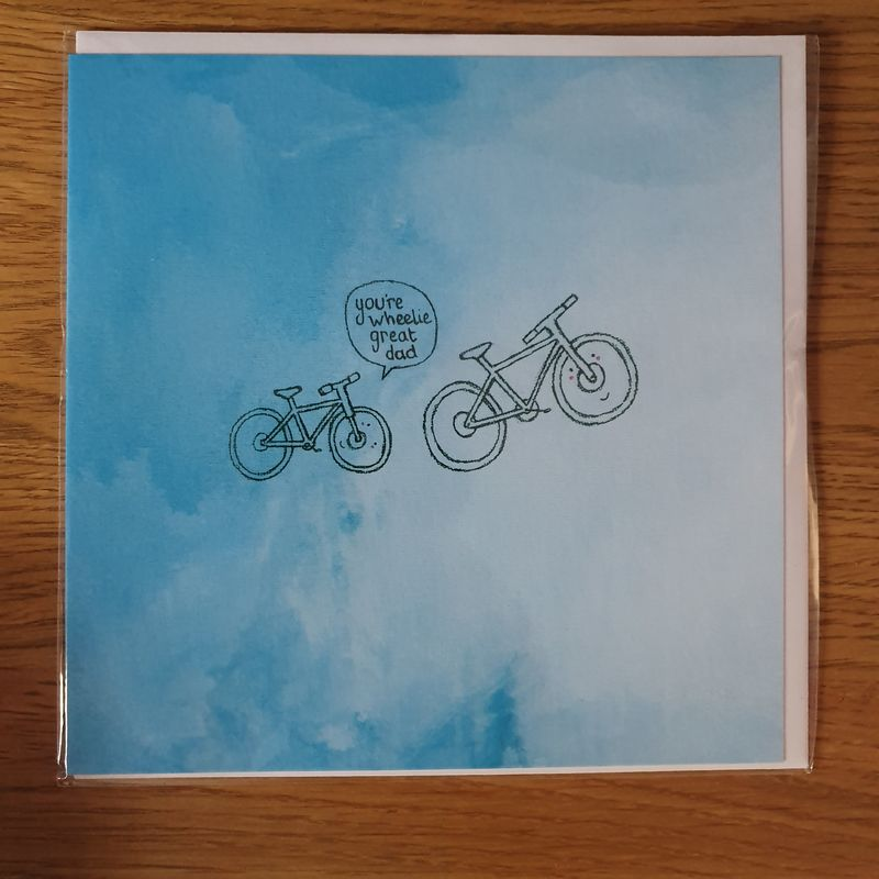 Wheelie Great Dad Card - Perfect for Dad On Father's Day - product images