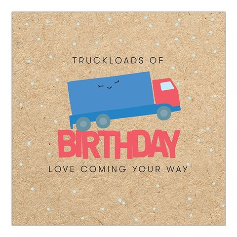 Truckloads,of,Love,Lorry,Birthday,Card,buy truck birthday card online, buy cute fun birthday cards online for him her unisex gender neutral, buy vehicle lorry trailer truck lorry driver birthday cards buy online, buy male birthday cards online with lorry,