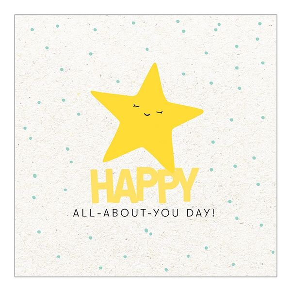 Happy All About You Star Birthday Card  - product images