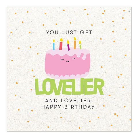 You,Just,Get,Lovelier,Birthday,Cake,&,Candles,Card,buy birthday card online with birthday cake and candles, buy cute fun birthday cards online for her unisex gender neutral kids, buy cake and candles birthday cards buy online, buy birthday cards online with cake, buy kids birthday card with birhday cake o