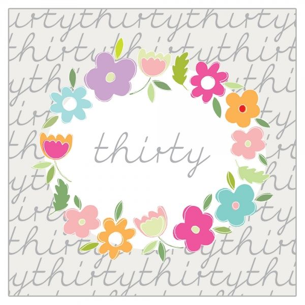 Floral 30th Birthday Card  - product images