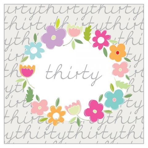 Floral,30th,Birthday,Card,buy floral 30th birthday card for her online online, buy age thirty birthday card with flowers online, buy female thirtieth birthday cards online, buyage thirty birthday cards online, buy thirty birthday cards for female online