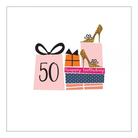 Birthday,Presents,50th,Card,buy female 50th birthday card for her online online, buy age fifty birthday card with presents heels shoes online, buy female fiftieth birthday cards online, buy age fifty birthday cards online, buy 50th birthday cards for female online