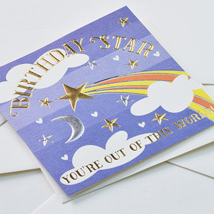 Stars & Moon Birthday Star Birthday Card - product images  of