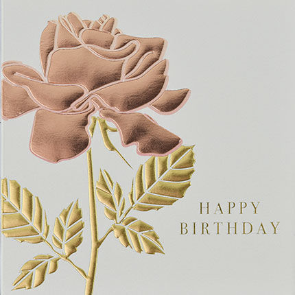 Botanical Rose Happy Birthday Card - product images  of