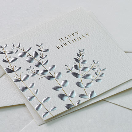 Botanical Leaves Happy Birthday Card - product images  of