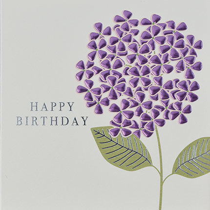 Botanical,Lilac,Flower,Happy,Birthday,Card,buy birthday cards for her online, buy female birthday cards with flowers online, buy floral birthday card for her online, buy birthday cards with flowers online, buy floral daisy birthday cards online, buy gender neutral birthday cards online, buy birthd
