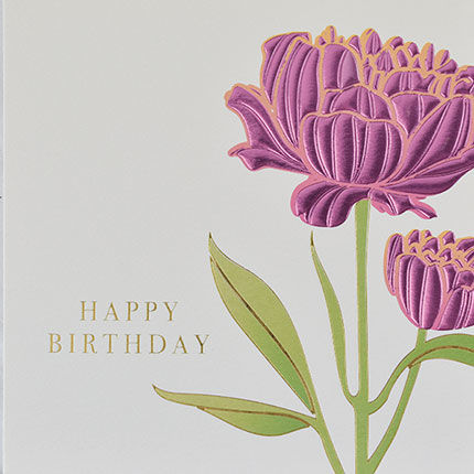 Botanical,Pink,Flower,Happy,Birthday,Card,buy birthday cards for her online, buy female birthday cards with flowers online, buy floral birthday card for her online, buy birthday cards with flowers online, buy floral daisy birthday cards online, buy gender neutral birthday cards online, buy birthd