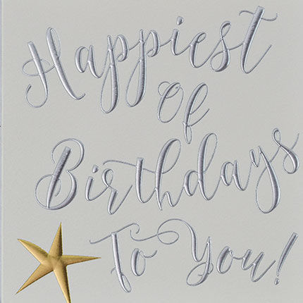 Star Happiest Of Birthdays To You Card - product images  of