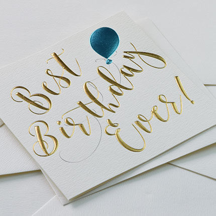 Balloon Best Birthday Ever Birthday Card - product images  of