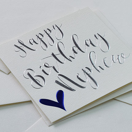 Happy Birthday Nephew Heart Birthday Card - product images  of