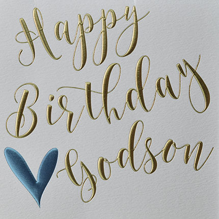 Happy Birthday Godson Heart Birthday Card - product images  of
