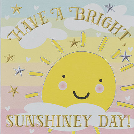 Sunshine,&,Stars,Have,A,Bright,Sunshiney,Day,Card,buy warm wishes sunshine cards online, buy greetings cards with sunshine online, buy sun sunshiney day cards online, buy friendship hello cards online, buy birthday cards for kids  online, sun birthday card