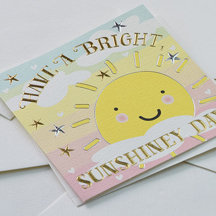 Sunshine & Stars Have A Bright Sunshiney Day Card - product images  of