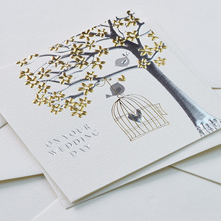 Birds & Birdcage On Your Wedding Day Card - product images  of