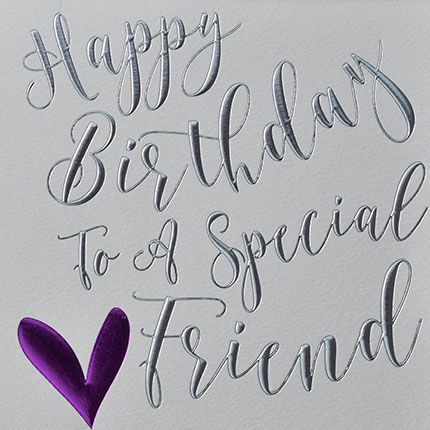 Happy Birthday Special Friend Heart Birthday Card - product images  of