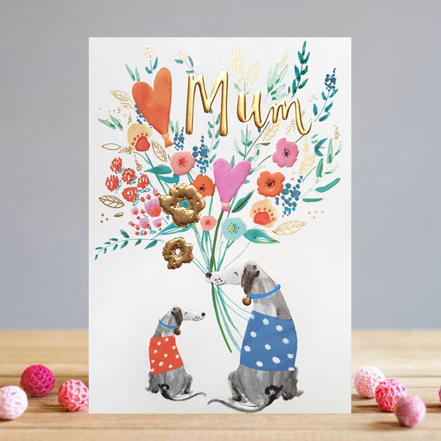 buy Motgers Day cards online at karenza paperie with leaves autumn trees squirrels reds yellows fireworks hedgehogs toadstools